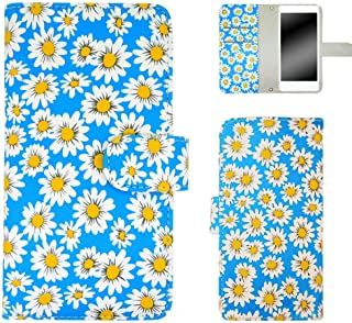 ホワイトナッツ Galaxy S3 progre SCL21 スマホケース 手帳 マーガレット ブルー ケース ギャラクシー エススリー プログレ 手帳型 カバー スマホカバー WN-OD117666_ML