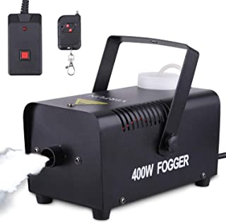 Portable Halloween and Party Fog Machine with Wireless Remote Control & Wired Remote, VIRFUN Smoke Machine for Holidays, Weddings with Overheat Protection