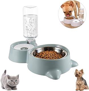 Cuenco Doble para Mascotas,Comedero para Perro Gato Comedero Automático Mascotas y Dispensador de Agua,Cuenco para Comer c...