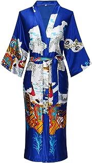 Valennia Floral Pattern Kimono Robe Long Bathrobe For Women