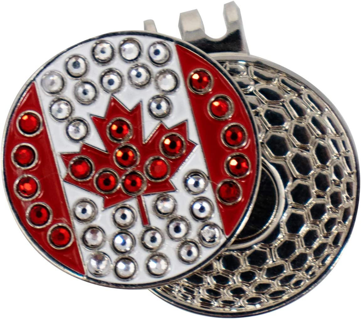 DA VINCI supreme Magnetic Golf Hat Clip safety Bling 1 Metal Bal with Inch
