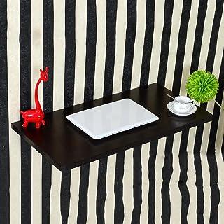 Lapdesks ZR-Table Murale Table à Poser Drop-Wall, Table à Manger Pliante, Table en Bois, Couleur: Noir -économiser de l'es...