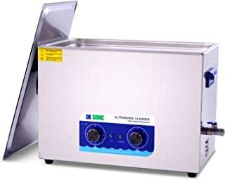 Large Commercial Ultrasonic Cleaner - DK SONIC 30L 600W Sonic Cleaner with Heater and Basket for Metal Parts,Carburetor,Fuel Injector,Brass,Auto Parts,Engine Parts,Motor Repair Tools,etc