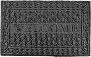 Mibao Non-Slip Welcome Mat Entrance Way Rug, Super Durable Low-Profile Easy to Clean Front Outdoor Heavy Duty Doormat, 24