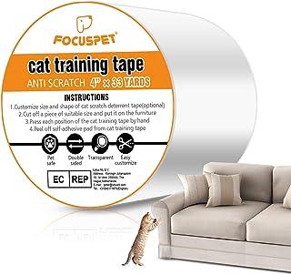 "Focuspet Cat Scratch Deterrent Tape 4"" x 30 Yards (33% Wider) Furniture Protectors from Cats | Cat Training Tape Scratch P..."