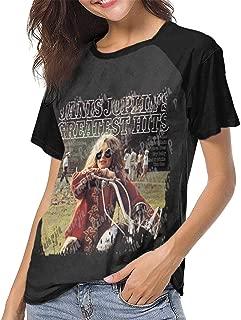 Janis Joplin Greatest Hits Womens Short Sleeve Raglan Baseball T Shirts Black