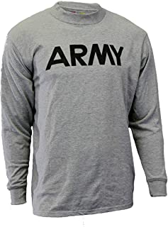 Soffe Military Dri-Release Long Sleeve T-Shirt - Gray - With Reflective Army Logo, 3 Pack
