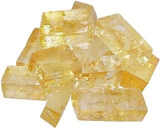 AITELEI 1 Ib Calcita Natural Cristal Óptico Calcita Islandia Spar Mineral curación Raw piedras Rough Rock Cristales para Tumbling, Cabbing