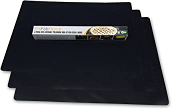 FitFabHome 3 Pack Large Non-Stick Oven Liners Certified BPA and PFOA Free