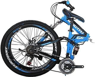 Kingttu G6 Mountain Bike 21 Speed 26 Inches Regular Spoke Wheels Dual Suspension Folding Bike