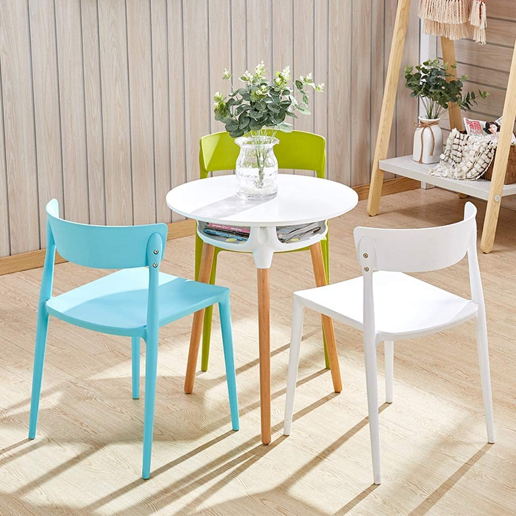 Chaise WGZ de Salle, de Bureau Simple, créative Dossier, Loisirs, Maison Adulte de Salle Simple (Color : Blue) White