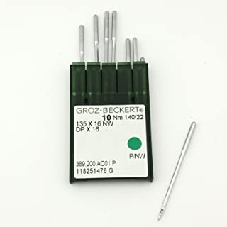 10 Groz-Beckert 135X16NW DPX16 Size 22 Leather Point Sewing Machine Needles