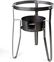 Stark Single Stove Gas Burner Stand Propane Fryer Portable Stove Stand Outdoor Cook Camping BBQ Camp Tailgating Cast Iron