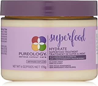 Pureology | Hydrate Superfood Treatment Hair Mask | For Dry, Color Treated Hair | Silicone-Free | Vegan