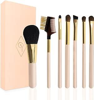 CY 7 Pcs/Set Pink Make Up Brush Cheap Travel Set Blush Eye brow Cosmetics Eyeliners Eye shadow Foundation Make Up Set Travel Kit …
