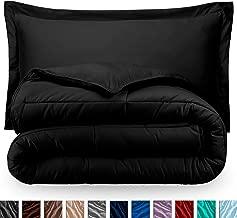 Bare Home Comforter Set - King/California King - Goose Down Alternative - Ultra-Soft - Premium 1800 Series - Hypoallergenic - All Season Breathable Warmth (King/Cal King, Black)