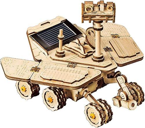 LHYP 3D-Holz Puzzle Mechanisches Modell Selbst Montieren Solar Energie Betriebene Explorations Wagen, Puzzle-Spielzeug-Projekt Für Jungen (Spirit Rover)