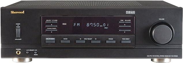Sherwood RX5502 100 Watt x 4 RMS Dual-Zone Stereo Receiver (Black)