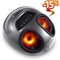 Tespo Shiatsu Foot Massager Machine with Heat & Air Compression
