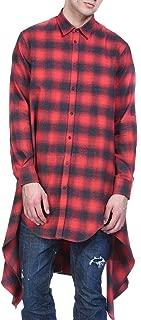 Mens Fashion Casual Long Sleeves Hipster Hip Hop Button up Plaid Long Shirt