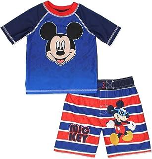 ミッキーマウスBoys Swim Trunks andラッシュガードセット(幼児用)