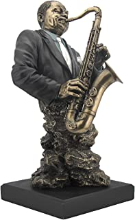 Artistic Saxophone Player Statue Sculpture - Jazz Band Collection