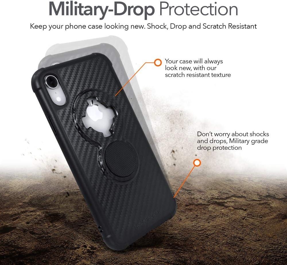 Rokform - iPhone XR Magnetic Case with Twist Lock, Crystal Slim Magnetic iPhone Case Series (Black)