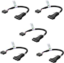 SIENOC 19 Pin USB3.0 Female to 9 Pin USB2.0 Male Motherboard Cable Adapter Pack of 5