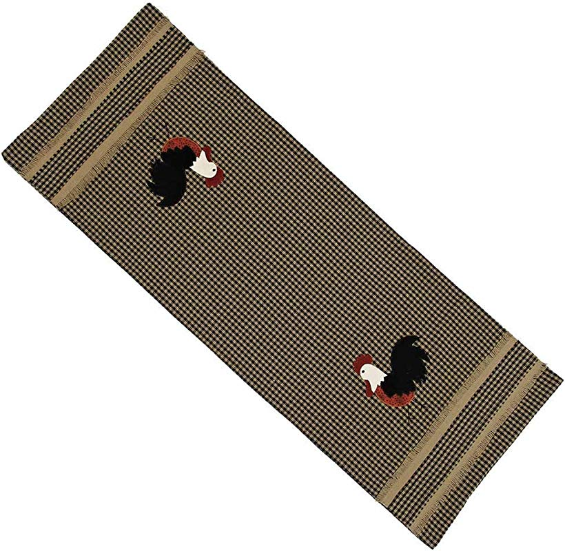 Home Collection By Raghu Rise And Shine Rooster Oat Table Runner 14 By 36