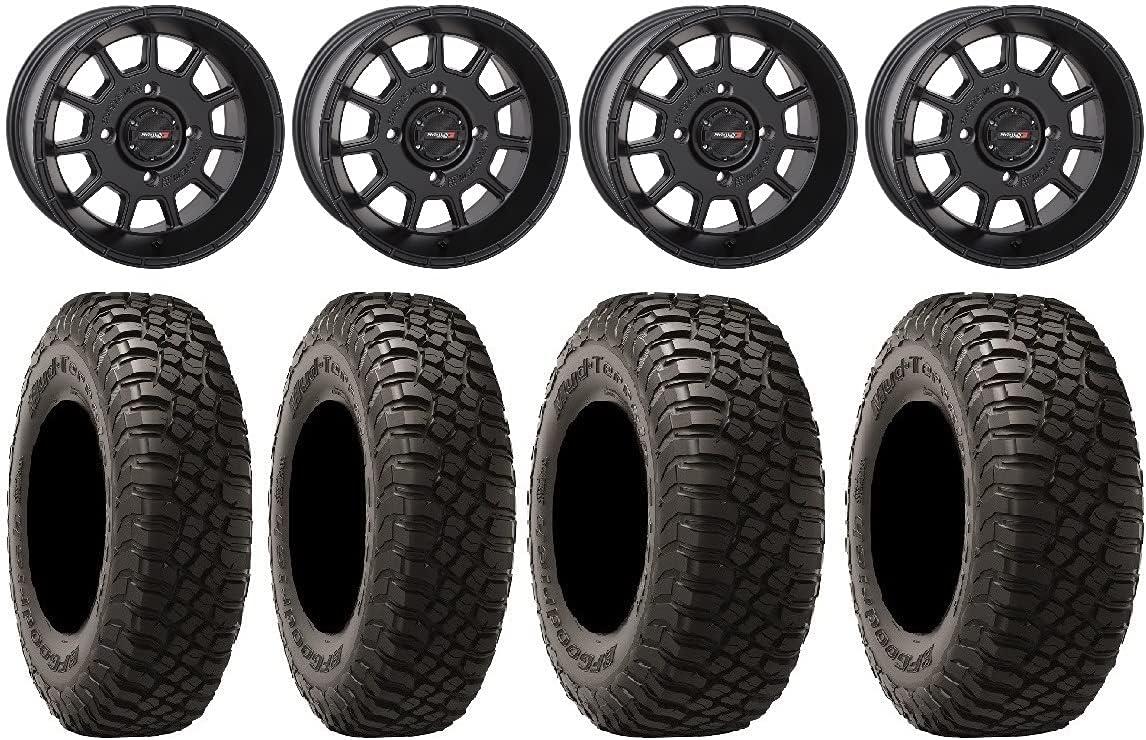 Bundle - 9 Items: System National uniform free shipping 3 ST-5 KM3 BFG Tir Black latest Wheels 14