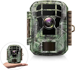 """Campark Mini Trail Game Camera with Night Vision 1080P 12MP Waterproof Wildlife Monitor for Scouting Hunting 120°Detecting Range Motion Activated 2""""LCD Display-20M IR LED"""