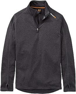 Timberland PRO Men's Understory 1/4-Zip Fleece Top Sweatshirt, Dark Charcoal Heather, XL