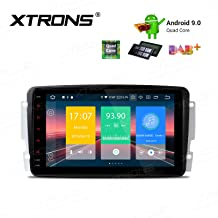 XTRONS Android 9.0 Car Stereo Radio GPS Navigation 8 Inch Touch Screen Slim Design Head Unit Supports Plug and Play WiFi Bluetooth Backup Camera DVR OBD2 TPMS for Mercedes Benz C-Class W203 G-W463 CLK