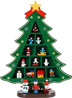 Mesa de Madera Árbol de Navidad Pequeño Escritorio Árbol de Navidad con Adornos en Miniatura Mesa de Escritorio DIY Mini Á...