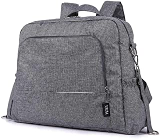 Redland Art Multi-Function Waterproof Diaper Bag Stylish Travel Tote With Stroller Strips Changing Mat Set Large Capacity Stroller Bag (Color : Gray)