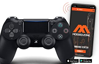 Standard Black PS4 PRO Smart Rapid Fire Modded Controller Mods for FPS All Major Shooter Games Warzone & More (CUH-ZCT2U)