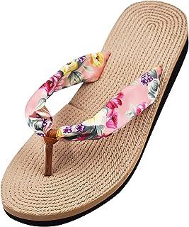 R-ISLAND Chanclas para mujer Zapatos de playa y piscina Zapatillas de verano Sandalias suaves y ligeras para interiores y ...