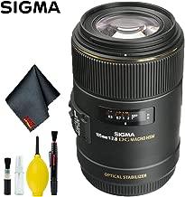 Sigma 105mm f/2.8 EX DG OS HSM Macro Lens for Canon EOS Cameras (International Model) Standard Kit