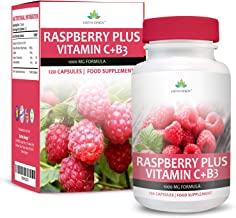 Raspberry Ketones – 1000mg with Vitamin C and Niacin – Maximum Strength Supplement for Men Women – Get Double The Capsules – 120 Capsules 2 Months Supply by Earths Design Estimated Price : £ 15,97