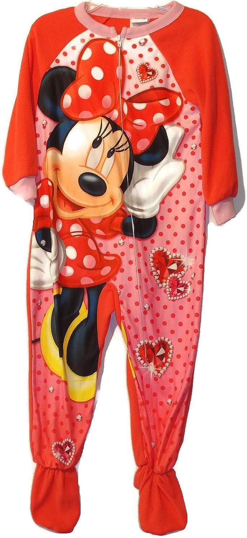 Minnie Mouse Dot Jewels Girl's 4T Fleece Footed Blanket Pajama Sleeper