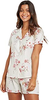 AOP Floral Short Sleeves Shirt and Shorts Set For Women