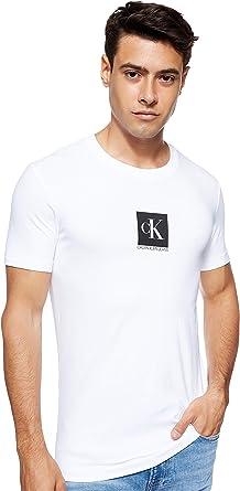 Calvin Klein Center Monogram Box Slim tee Camiseta para Hombre