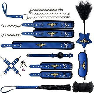 Cosplay Soft Leather Beautiful Dress Costume Accessory Hand kit 11 PCs Set(RoyalBlue)