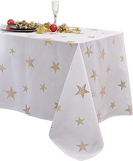 CALITEX airaines Rectangular Tablecloth 140x 300cm Polyester White