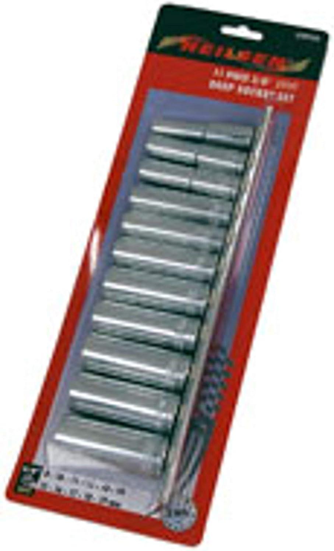 Neilsen Ct0754/disque Douille profonde Rail Lot de 11/pi/èces 3//20,3/cm Argent