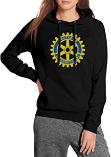 WYLIN Rotary-International Women's Funny Pullover Hoodies Slim Fit Sweatshirts with Pockets