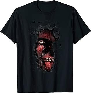 Tee Zombie Muscle Face Broken Split Wall Blood Eyes Teeth T-Shirt