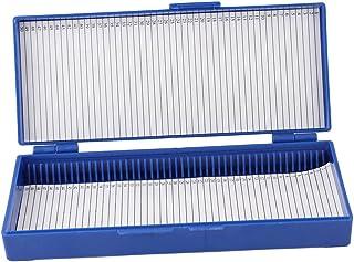 uxcell プレパラートボックス ライド顕微鏡ボックス 50スライド顕微鏡ボックス ロイヤルブルー プラスチック裏地シート スライド用
