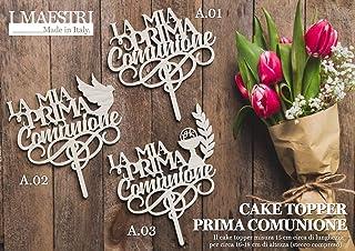 Cake topper Prima Comunione con decoro - I MAESTRI