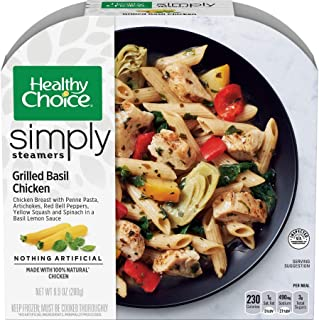 Healthy Choice Cafe Steamers Grilled Basil Chicken, 9.9 Ounce -- 8 per case.